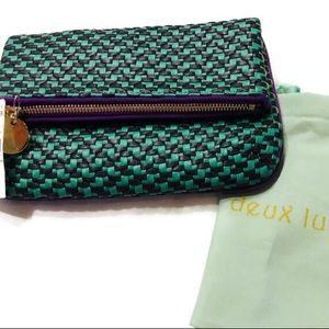 Deux Lux Leather Fold over Clutch Purse